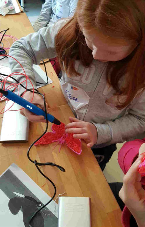 creative 3D pen workshop for children and teenagers