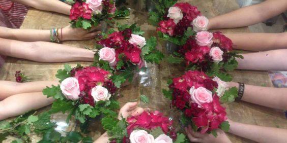 Un anniversaire fleuri – Atelier floral