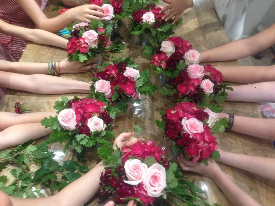 fêter son anniversaire avec un atelier floral