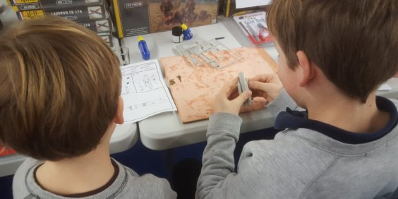 A Modeling workshop for 7 / 15 year olds at 1001Hobbies