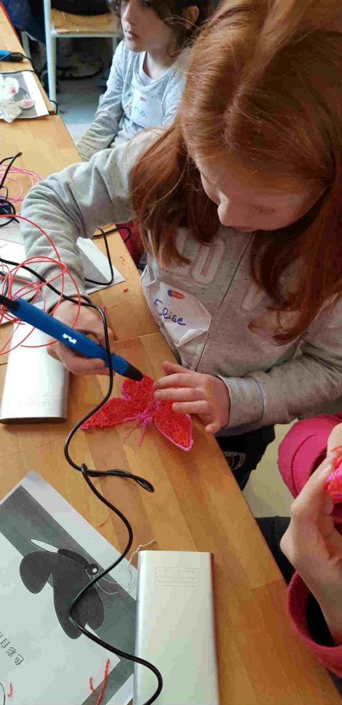atelier créatif stylo 3D pour les enfants et les ados