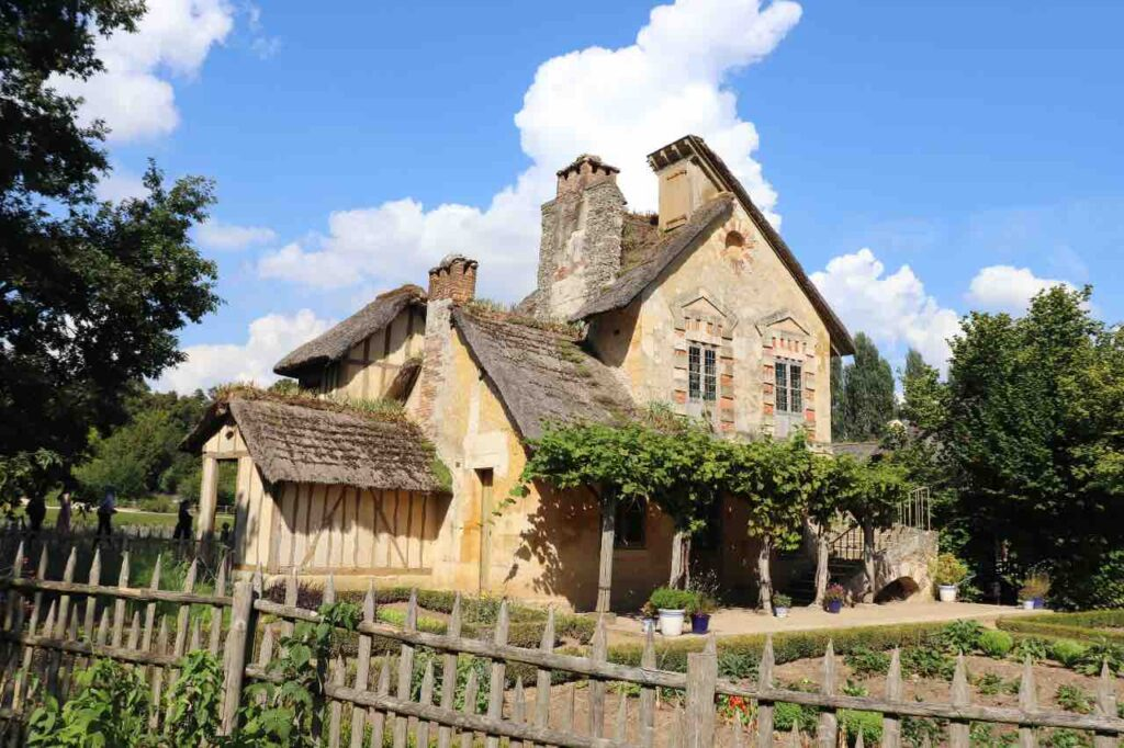 thatched cottages of Marie-Antoinette's hamlet in Versailles