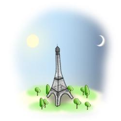 tour de nuit des illuminations de noel  à Paris