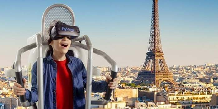 FlyView360, the virtual flight over Paris