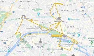 night tour of Paris by bus with Tootbus