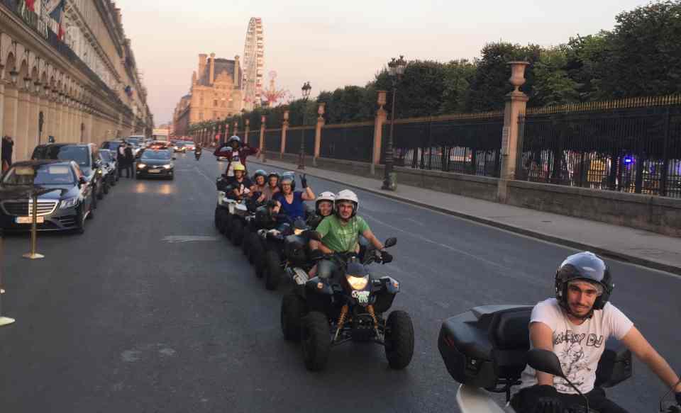 visite guidée de Paris en Quad