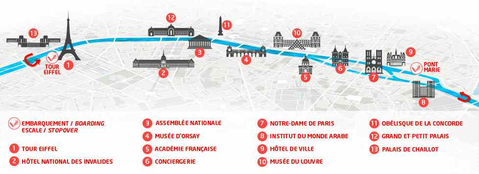 plan cruise Vedette de Paris