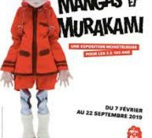 Affiche de l'exposition Murakami au musée en Herbe
