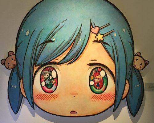 l'expo très gaie au musée en Herbe avec les oeuvres de Murakami