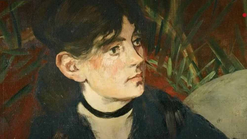 Very nice portrait in the Berthe Morisot exhibition at the Musée d'Orsay