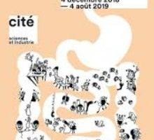 affiche de l'exposition Microbiote à la Cité des Sciences