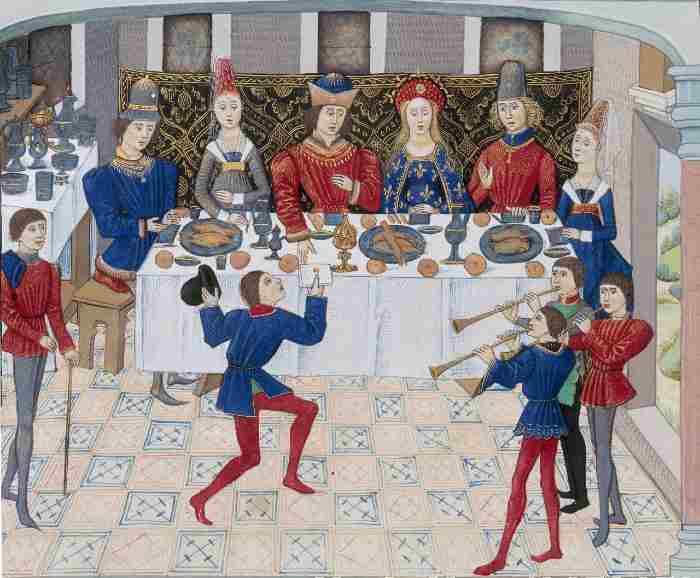 exosition à table à la tour Jean Sans Peur
