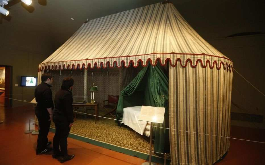 Napoleonic bivouac at the exhibition on Napoleon at La Villette