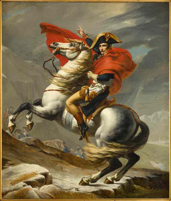 painting by Jean Louis David at the exhibition on Napoleon at the Grande Halle de la Villette