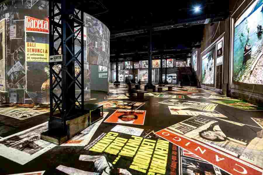 Dalí exhibition at the Atelier des Lumières