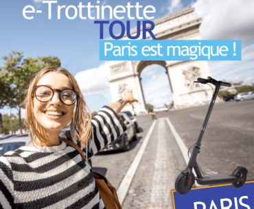 guided tour of Paris on an electric scooter