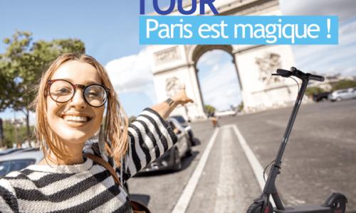 balade guidée dans Paris en trottinette électrique