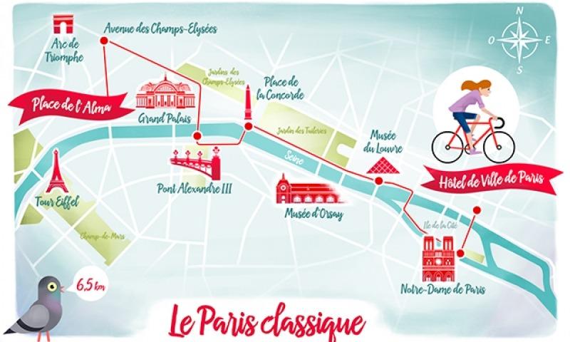 visite guidée en trottinette électrique : le parcours dans Paris