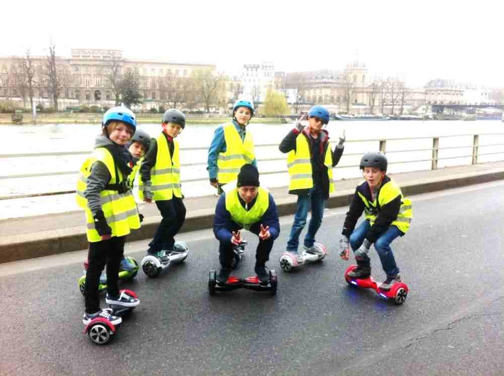 formule anniversaire originale en hoverboard dans Paris