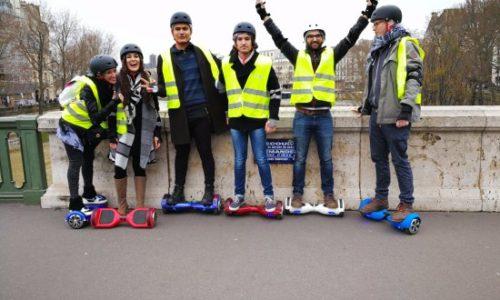 balade insolite dans Paris en Hoverboard