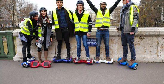 Balade dans Paris en Hoverboard