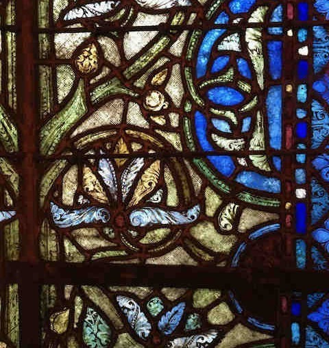 vitraux dans la basilique saint-denis