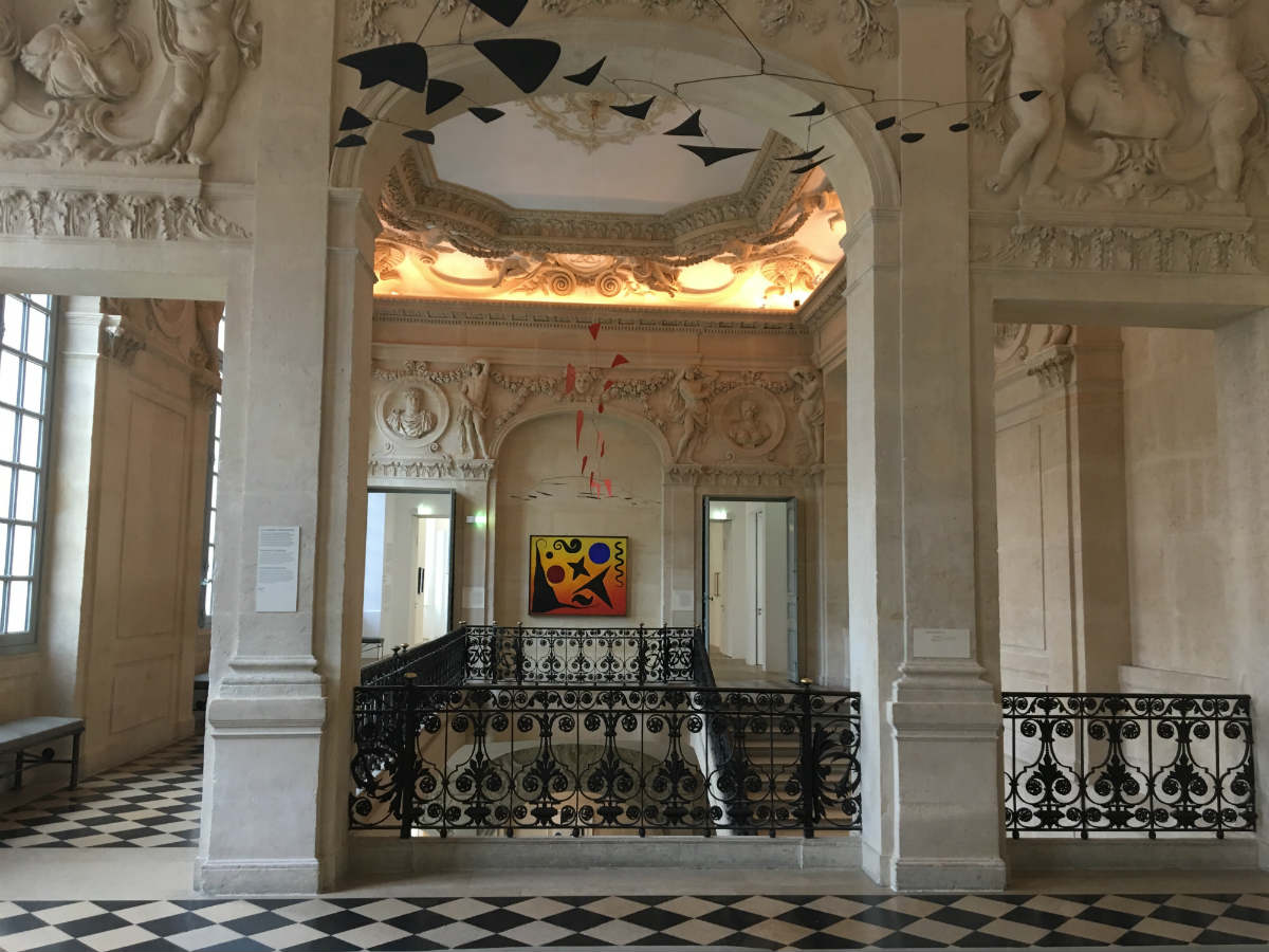 grand staircase of the Picasso museum at the Hôtel Salé