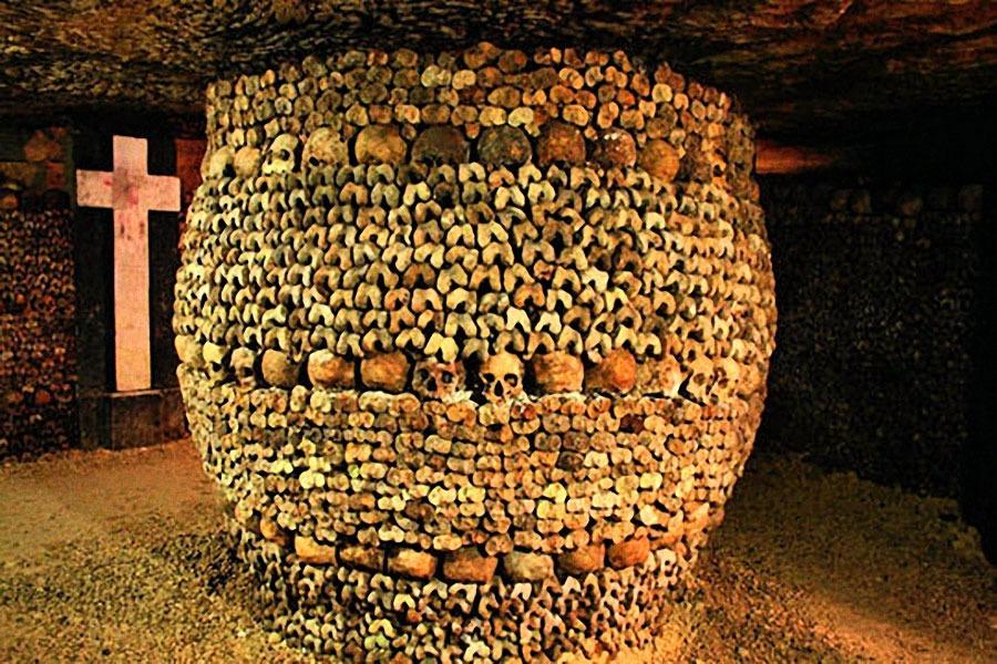 les catacombes à paris : avec des ados