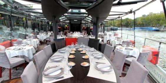 Déjeuner et dîner croisière sur la Seine avec les Bateaux-Parisiens