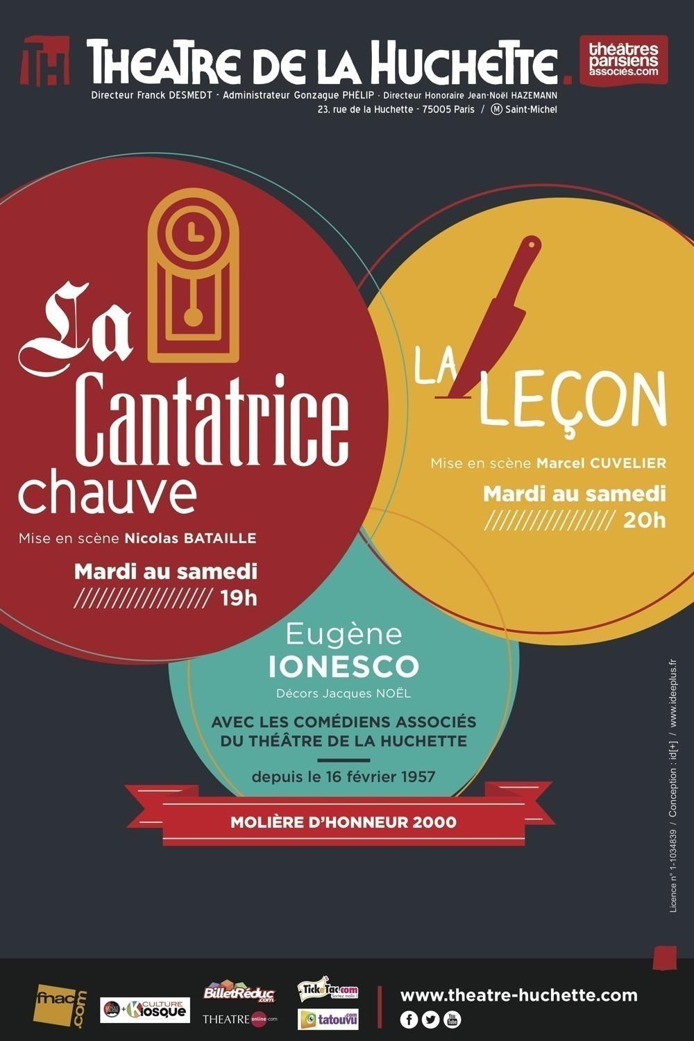 La Cantatrice Chauve et la Leçon, au théâtre de la Huchette depuis 1957