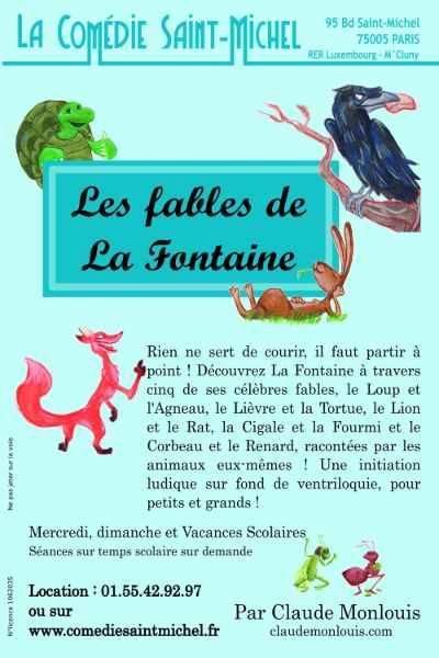 Les fables de La Fontaines: une sélection savoureuse au théâtre Comédie Saint Michel