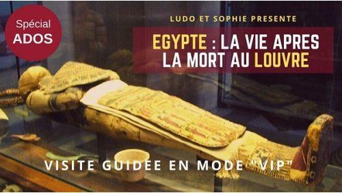 visite guidée pour les ados des antiquités égyptiennes du Louvre