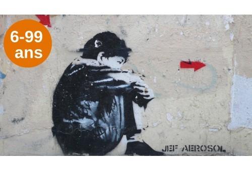a treasure hunt to explain street art to children