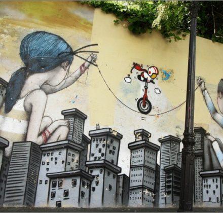street art dans le quartier de la Butte aux Cailles