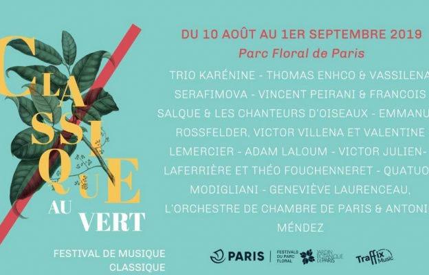le festival Classique au vert au Parc Floral : dates et programme