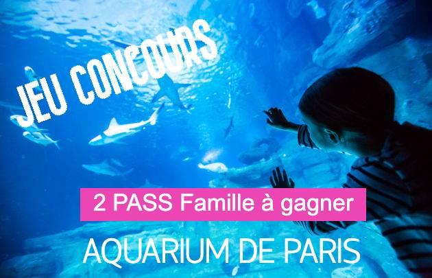 des entrées à gagner pour l'Aquarium de Paris