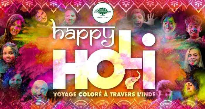 Happy Holi, la fête indienne au jardin d'Acclimatation