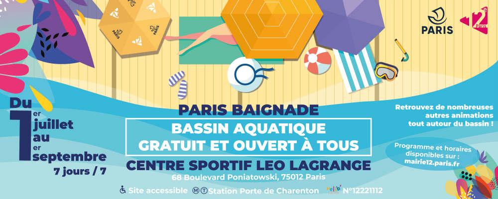 Paris Baignade 2019 : baignade graduite à la piscine Léo Lagrange