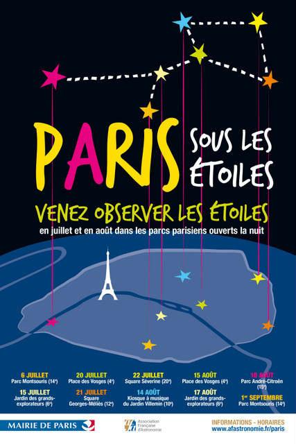 Paris sous les étoiles, programme 2019