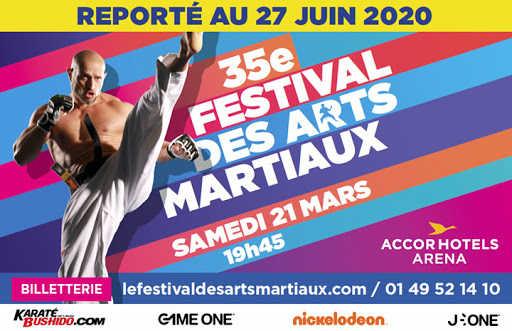 report au 27 juin du festival des Arts Martiaux
