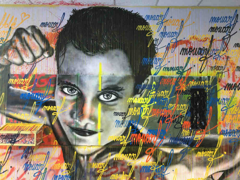 the artist Mouarf exhibits in Joinville-le-Pont