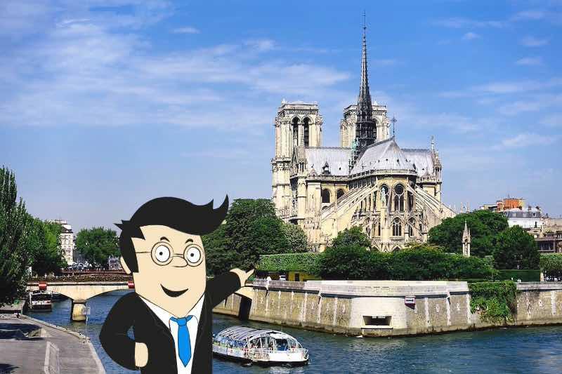treasure hunt around Notre-Dame