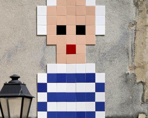 Invader Picasso dans le Marais