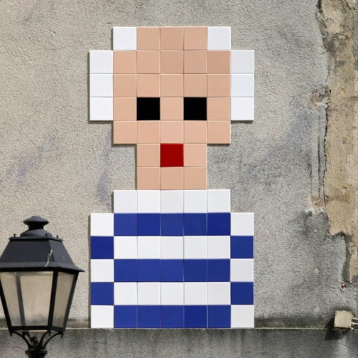 Invader Picasso in the Marais