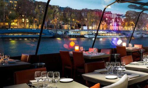 un déjeuner ou un diner-croisière sur les Bateaux Parisiens