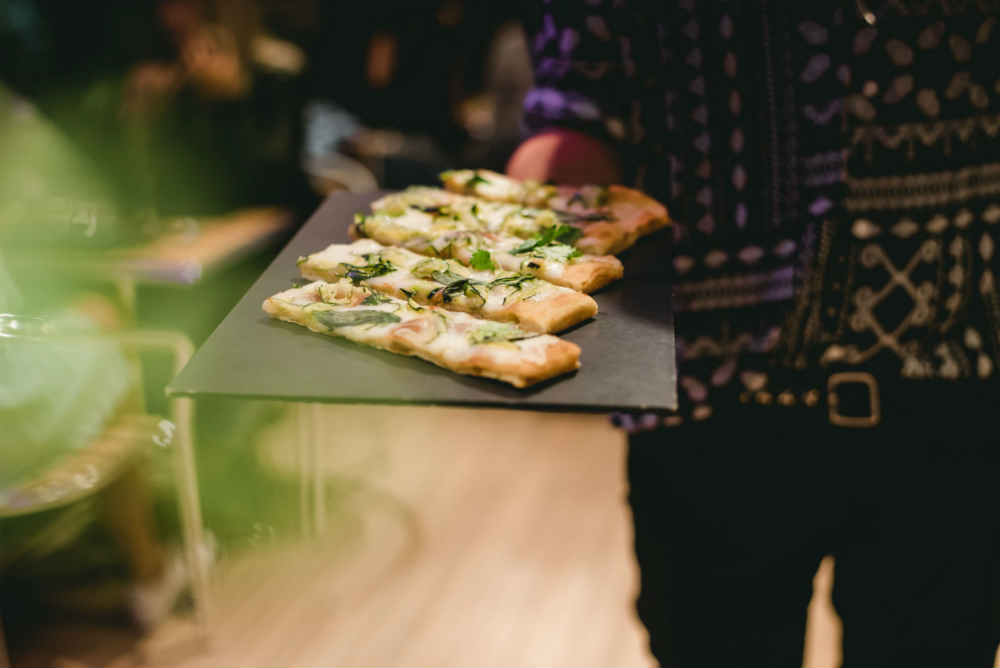antipasti dans le menu italien de la croisière Pizza sur la Seine