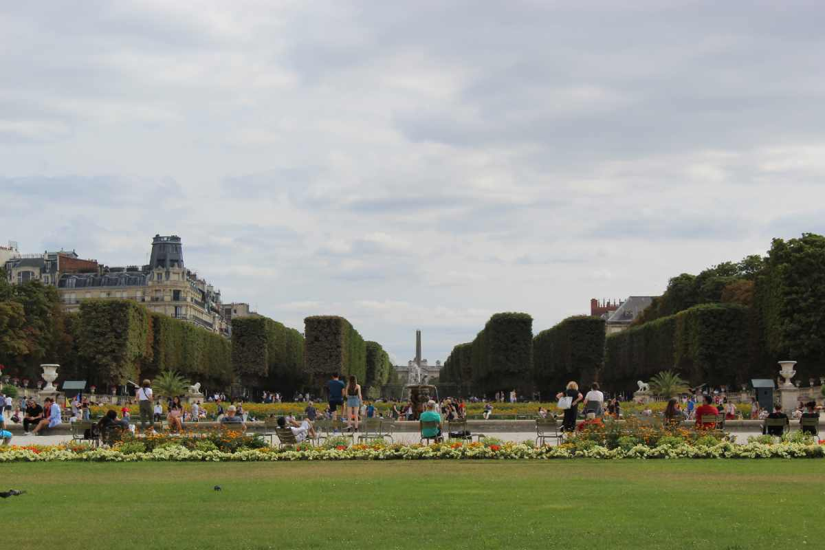 the lawns of the Luxembourg Gardens