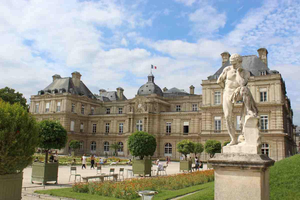 the luxembourg garden in Saint-Germain-des-prés