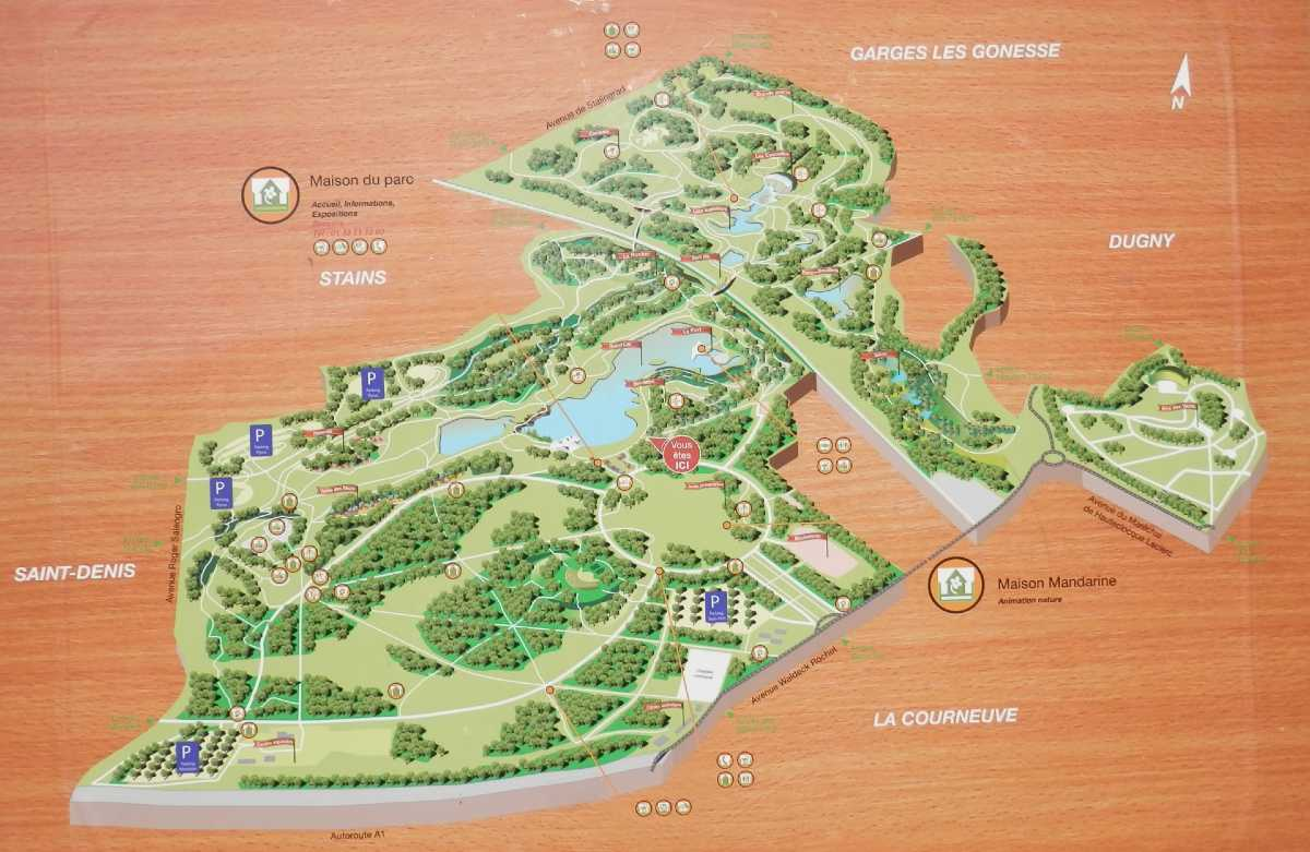 map of the park of la courneuve