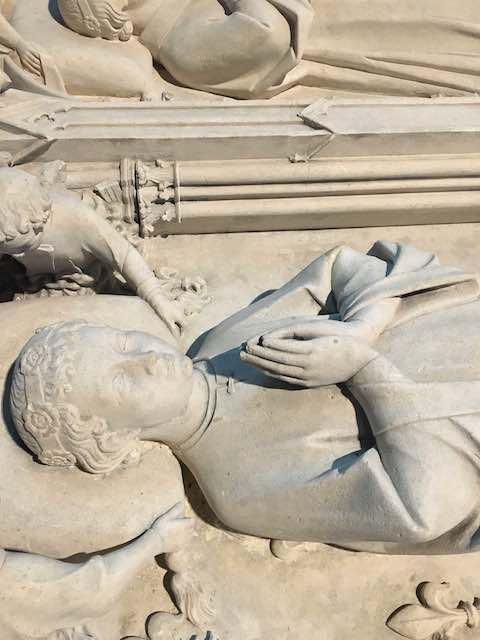 détail de la basilique Sant-Denis à Saint-Denis